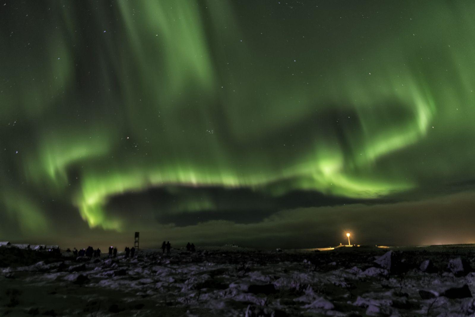 Noorderlicht in IJsland als plotseling cadeau
