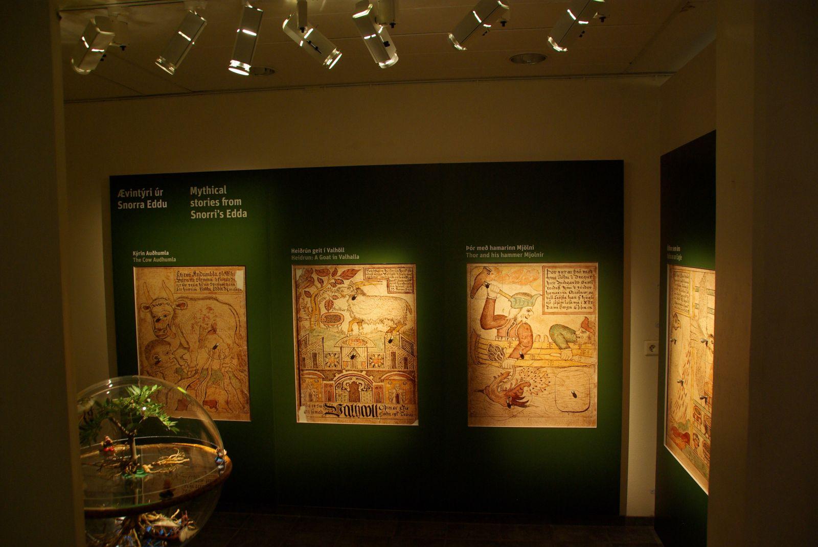 Duidelijke panelen in Snorrastofa