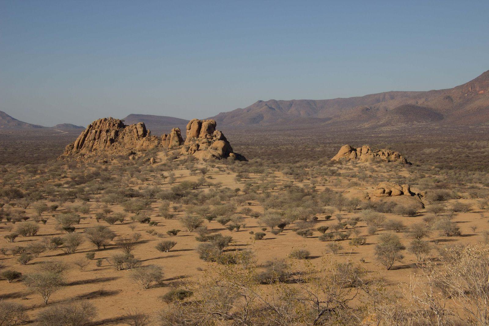 Erongo vlakte Namibië